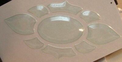 Quality BEVELED GLASS CLUSTER  5.5 X 12 inches Very Nice Quality Transom Bevels