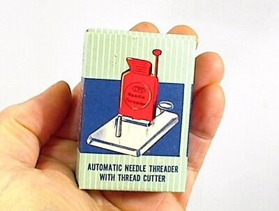 Vintage Automatic Needle Threader With Cutter In Original Box Cpc