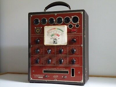 Vintage University U4-5B Supertester Oz Radio Valve Tube Tester+Leads, Working
