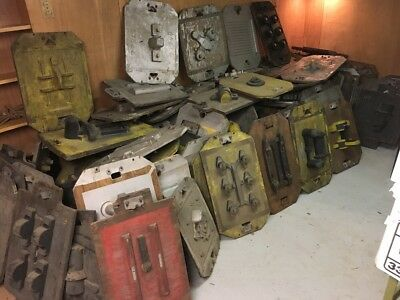 Lot Of 100 + Industrial Foundry Mold Patterns Steampunk Altered Art Loft Decor