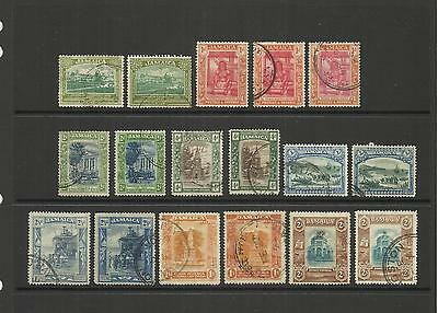 Jamaica ~ 1920-29 King George V Definitives