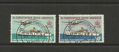 St Kitts Nevis Anguilla ~ 1968 Carifta  (Used Set) Ships