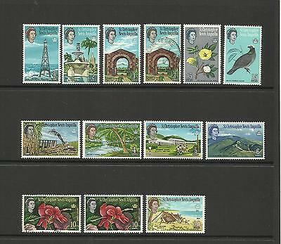 St Kitts (St Christopher Nevis Anguilla) ~ 1968 Qe Ii Definitives (Part Set)