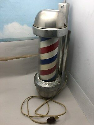 Vintage William Marvy Company Model 410 Electric Lighted & Spinning Barbers Pole