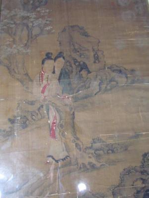 *VERY RARE* ANTIQUE signed CHINESE CALLIGRAPHY SCROLL PAINTING