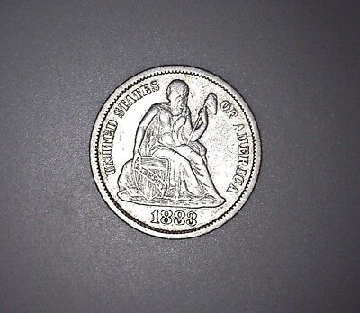 Silver 1883 Seated Liberty Dime Very Nice Details No Reserve!