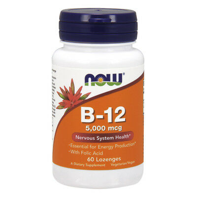 NOW FOODS Vitamin B-12 5000 mcg 60 Lozenges - VITAMINE