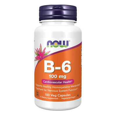 NOW FOODS Vitamin B-6 100 mg 100 Capsule - VITAMINE