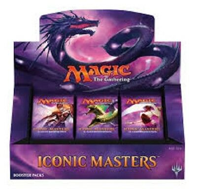 Magic The Gathering Iconic Masters Booster Box Brand New & Sealed