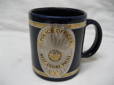 West Covina Police Dept Department 22K Gold Plated Coffee Cup Mug