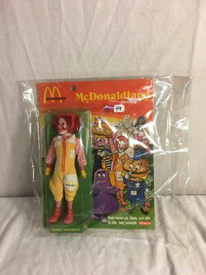 """Vintage 1976 Ronald Mcdonald REMCO doll ADVERTISING COLLECTIBLE MOC 8"""" NEW 1970S"""
