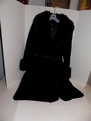 Vintage 1970's Black Faux Fur Coat-Borgazia Sportowne Doneckers Lot #19
