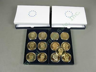 13 Bradford Exchange US Presidential Commemorative Dollar Coin Collection Lot NR