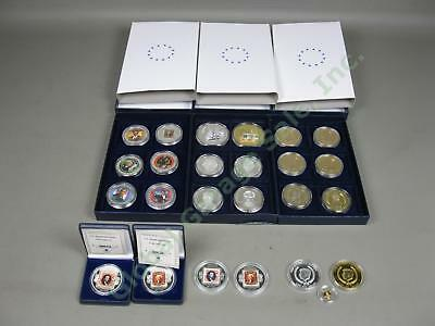 25 American Mint Presidential Commemorative Coin Lot 14K Gold .999 Silver + Clad