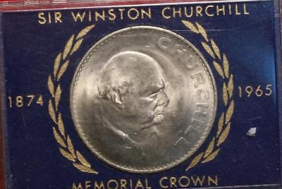 Uncirculated 1965 Great Britain Churchill Crown Foreign Coin Free S/H