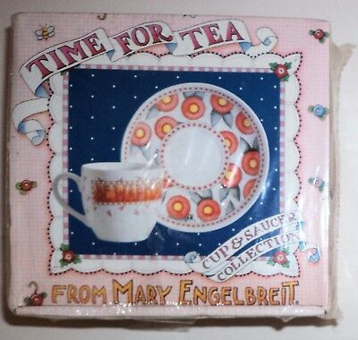 Mary Engelbreit Cup/Saucer & Book Gift Set Be Warm Inside And Out Time For Tea