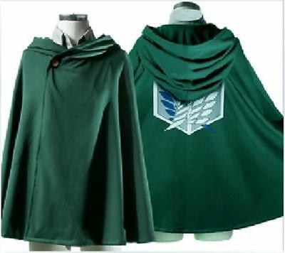 Cosplay Attack On Titan Anime Shingeki no Kyojin Hooded Cloak Cape clothes LD