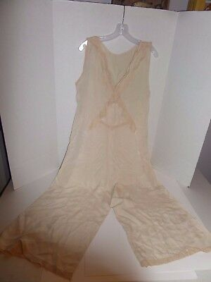Vintage Split Skirt Chemise/Pantalettes w/Lace Lot #32
