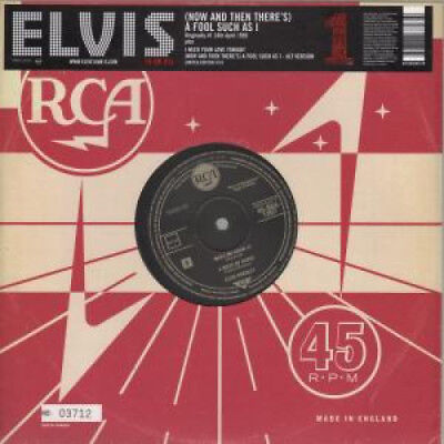 """ELVIS PRESLEY A Fool Such As I 10"""" VINYL European Rca 2005 3 Track In Numbered"""