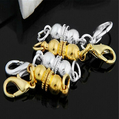 NUEVO 4X Strong Magnetic Necklace Clasps Jewellery DIY Bracelet Connectors 6mm B
