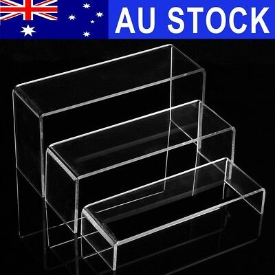 3/6/9Pcs Transparent Acrylic Shoe Display Stand Jewellery Rack Organiser Holder