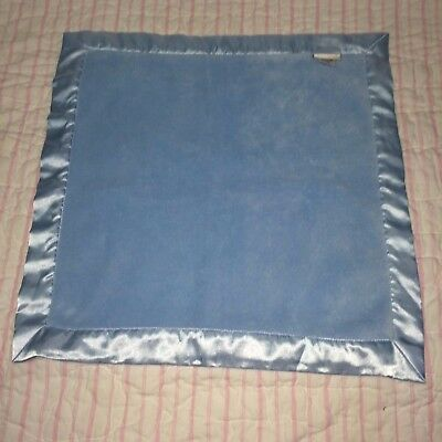 "Elegant Baby EB Blue Velour Satin Baby Security Blanket 20"" x 20"""