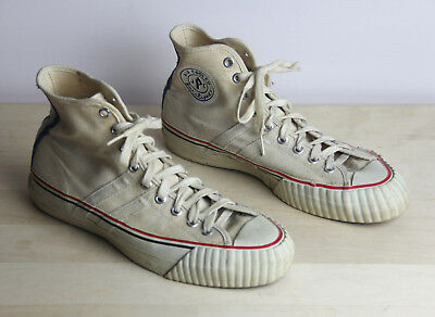 Vintage Circa 1950's JPC JC PENNEYS Mens Size 7.5 Sneakers Shoes Air Cooled USA