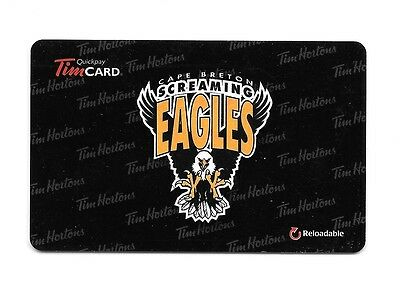 QMJHL 2014 Cape Breton Screaming Eagles Collectible Tim Hortons GiftCard FD42345