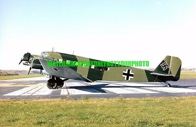 German Air Force  Junkers Ju 52 Color Photo Military Luftwaffe Aircraft