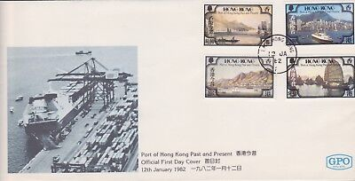 Hong Kong China & Gb Stamps First Day Cover 1982 Past From Collection