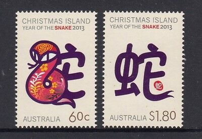 CHRISTMAS IS  2013 Year of the SNAKE design set of 2 MNH