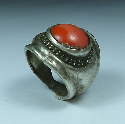 Beautiful Post Medieval Antique Silver Ring (04)