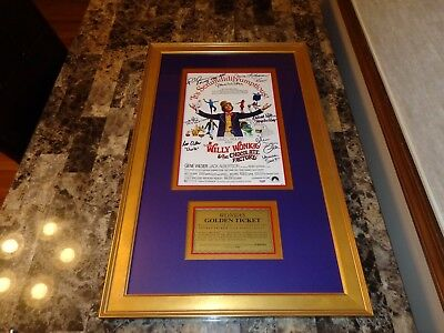 Willy Wonka & the Chocolate Factory Cast + 7 Signed Movie Poster Gene Wilder PSA