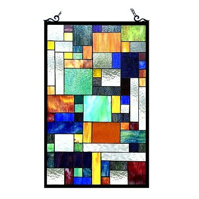 ~LAST ONE THIS PRICE~  Stained Glass Tiffany Style Window Panel Modern Design