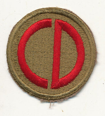 65th Infantry Division patch formation sign WWII white back large type US Army