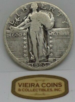 1926-S  Standing  Liberty 25 Cents, Free Shipping - #10256