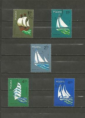 POLAND - 1974 Polish Sailing Ships - USED SET.