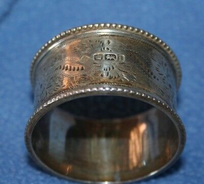 STERLING SILVER NAPKIN RING ENGLISH HALLMARKED Sheffield 1901