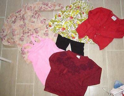 Lot enfant fille 4 5 ans ZARA MONOPRIX TAO gilet robe débardeur sweat legging
