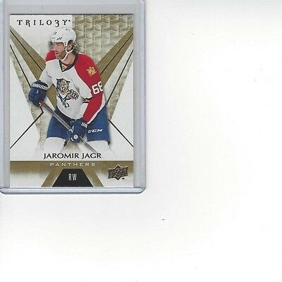 Jaromir Jagr Florida Panthers UD Trilogy 2016-17 Hockey Card #12