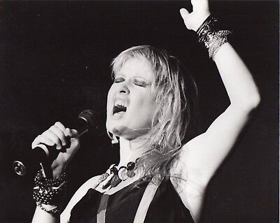 Cyndi Lauper Photo 1984 Unique Image Unreleased Huge 10 Inches Hand Printed Gem