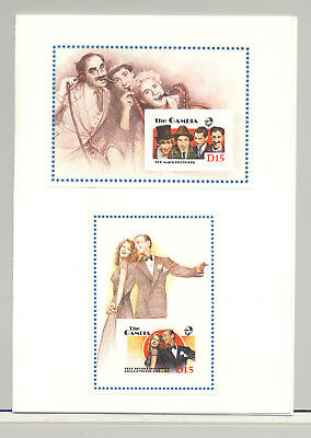 Gambia #776-777 Cinema, Marx Brothers 2v S/S Imperf Proofs in Folder