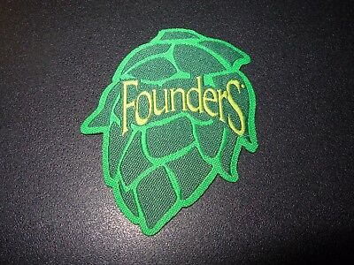 FOUNDERS BREWING CO Hop Cone PATCH label craft beer brewery KBS Bastard