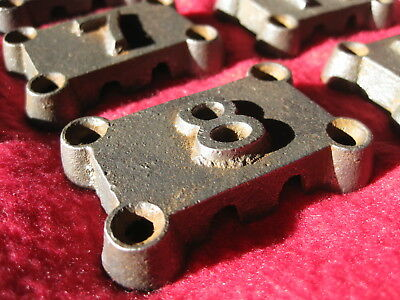 Iron coat hook numbers house architectural salvage antique Industrial Turog