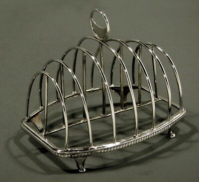 English Sterling Toast Rack         Mary Troby 1808       RARE WOMAN SILVERSMITH