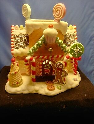 PARTY LITE Partylite GINGERBREAD HOUSE Tealight Holder fit Yankee Scentsy Retire