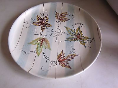 Bourne Denby pottery plate 27 cms signed by Glyn Colledge