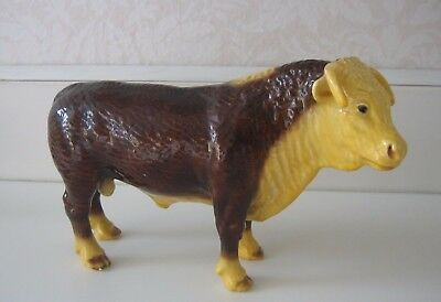 Vintage Morten's Studio, Hereford Steer or Bull Figurine, 1940's