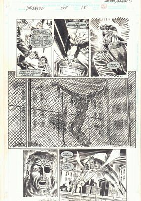 Daredevil #344 p.26 - Nick Fury has the Punisher at Gunpoint 1995 by Ron Wagner