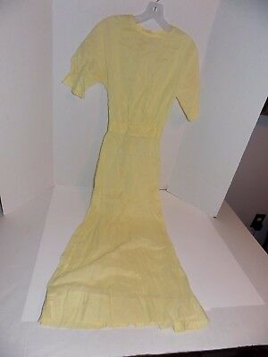 Vintage Yellow 1950's (?) Long Dress Gown Lot #48